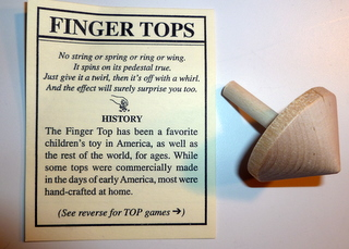 Wooden Finger Top